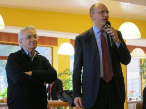 Comunità di Capodarco (febbraio 2013) - Enrico Letta e don Vinicio Albanesi